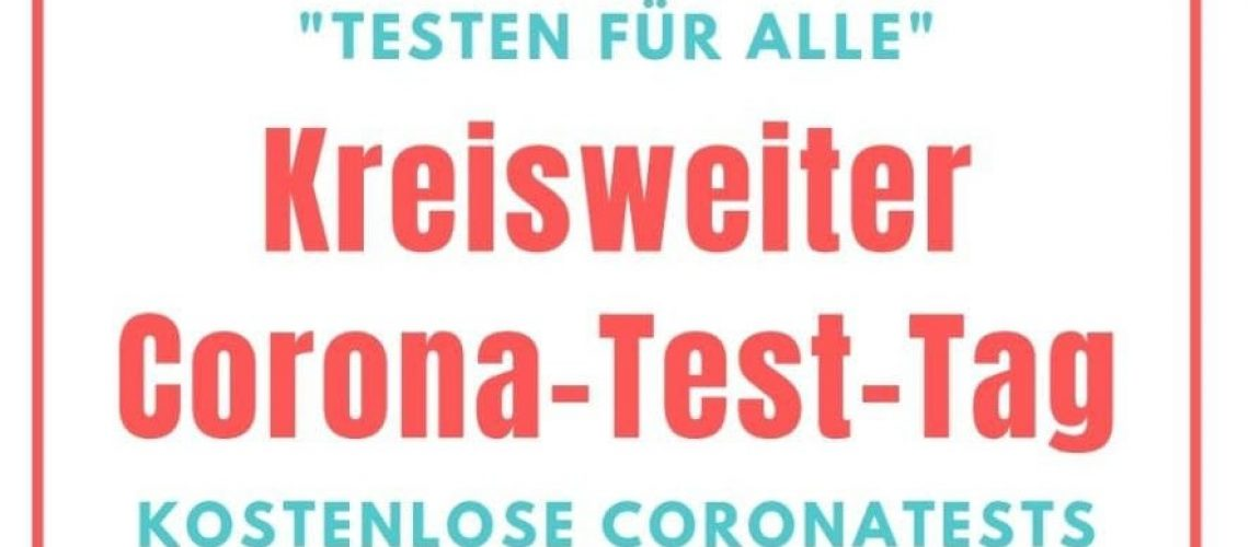 Kreisweietr Corona-Test-Tag