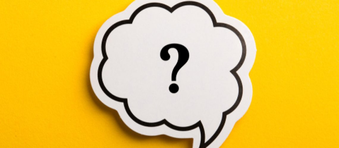 Question,Mark,Speech,Bubble,Isolated,On,Yellow,Background.