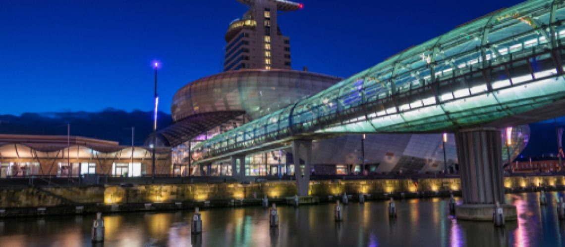 Architecture,And,Nightscape,Of,The,City,Bremerhafen,In,Germany,.