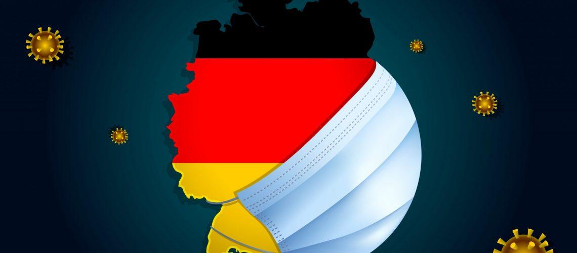 Coronavirus,Or,Corona,Virus,Concept,For,Germany.,Germany,In,A
