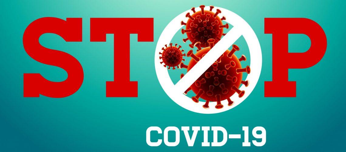 Stop,Covid-19,Sign,&,Symbol,,Vector,Illustration,Concept,Coronavirus,Covid-19.