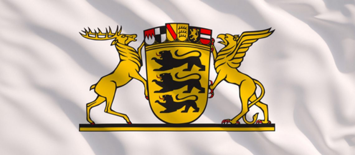 Baden,W?rttemberg,Greater,Coat,Of,Arms,On,White,Waving,Texture