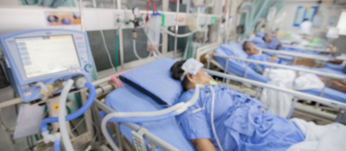 Blurred,Icu,Room,In,A,Hospital,With,Medical,Equipments,And