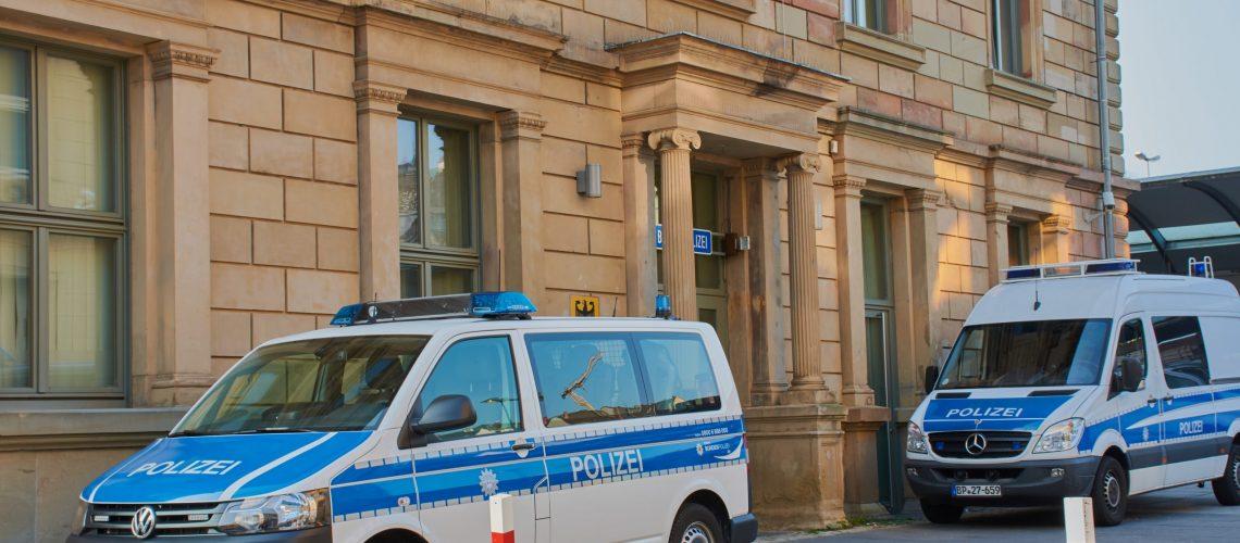 Mainz,,Rhineland-palatinate,,Germany,-,September,27,,2017:,Federal,Police,With